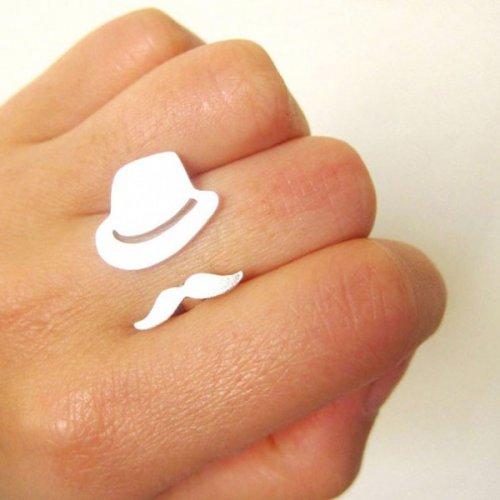Кольцо 'Шляпка' из желтого золота