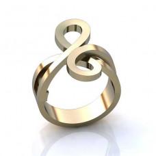 Кольцо 'Восьмерка' из белого золота