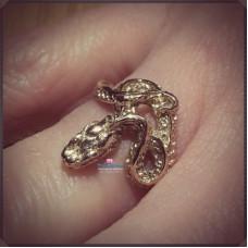 """Кольцо """"Змея"""" из белого золота"""