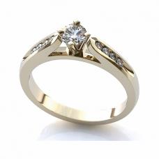 Помолвочное кольцо из белого золота с бриллиантами..