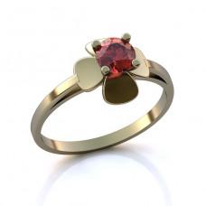 Помолвочное кольцо из белого золота с рубином