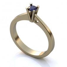 Помолвочное кольцо из белого золота с сапфиром..