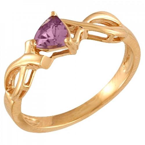 Помолвочное кольцо из красного золота с рубином