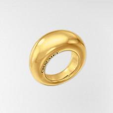 Широкое кольцо из желтого золота