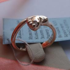 Золотое Кольцо Пяточка с бриллиантом